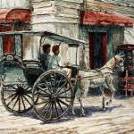 """A Carriage on Crisologo Street"" by JoeyAgbayani"