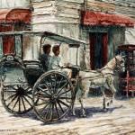 """A Carriage on Crisologo Street"" by JoeyAgbayani"