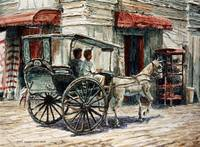 A Carriage on Crisologo Street