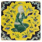 """A SAFAVID CUERDA SECA POTTERY TILE, PERSIA, 18TH C"" by motionage"