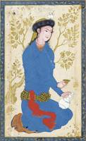 A YOUTH WITH BOTTLE AND CUP, ATTRIBUTABLE TO REZA-