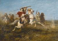 ADOLF SCHREYER 1828 - 1899 ARAB WARRIORS