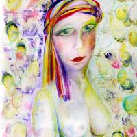 Bubble Girl Art Prints & Posters by Kathie Warren
