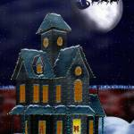 """Christmas House Victorian Folk Art"" by ReneeLozenGraphics"