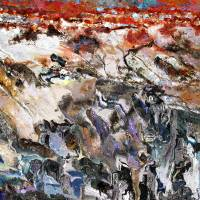 Badland plateau: theoretical leantide of slough me Art Prints & Posters by Erik Goetze