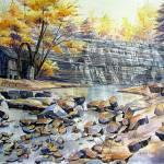 """Moravian Falls"" by kimkloeckerart"