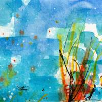 Abstract Intuitive Watercolor Art