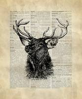 Vintage_DictionaryArt_Deer