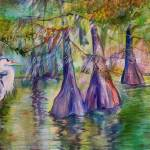 """BLUE HERON BAYOU"" by MBaldwinFineArt2006"