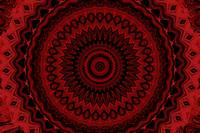 Red and Black Wheel Mandala 1