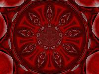 Red and Lotus Petal Mandala