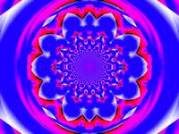 Calm Blue and Pink Lotus Mandala