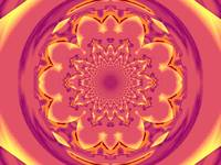 Calm Orange  Lotus Mandala 1