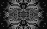 Lotus Mandala  in Black and Gray Pastels 1