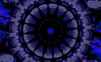 Blue and Black Dharma Sky Wheel 1