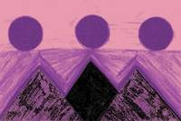 Pyramids Of Other Worlds In Pink and Purple
