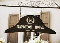 New Orleans Sign - Napoleon House - Sepia