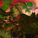 """Fantasy Worlds 3D Dinosaur"" by ReneeLozenGraphics"