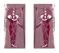 Egyptian Priests In Ruby Red I