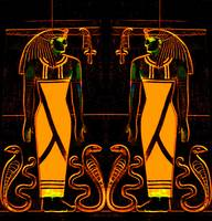 Egyptian Priests and Cobras in Yellow I
