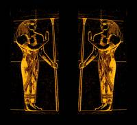 Egyptian Priests In Golden Yellow I