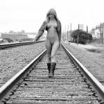 """Sarah nude on the tracks"" by robertneil"