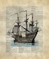 Vintage_DictionaryArt_Ship