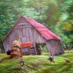 Old S,Carolina Hay Barn- Field of Memories