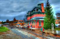 N Bennington Train Station Rainy Day  #803