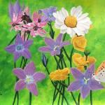 """""""BORBOLETAS III WILD FLOWERS"""" by ROFFEART"""