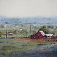The Big Red Barn Art Prints & Posters by Judy Mudd