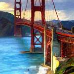 """Golden Gate Bridge"" by artbyjames"