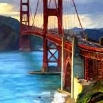 """""""Golden Gate Bridge"""" by artbyjames"""