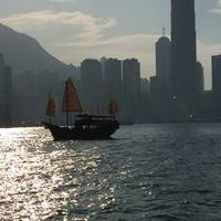 Boat Between Peak & Hong Kong