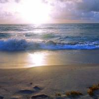 """Treasure Coast Florida Sunrise Seascape B"" by Ricardos Creations"