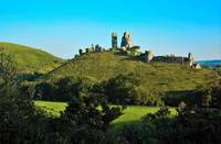 Corfe Castle in the late summer