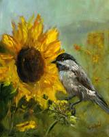 Sunflower Bird 8x10
