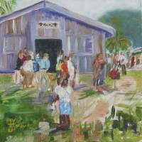 Belize Church Day Art Prints & Posters by Josephine Hardison