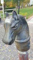 Old Vintage Horse Head Post