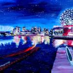 """Vancouver skyline at starry night"" by arthop77"