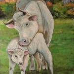"""Mama and Calf"" by Littlepig"