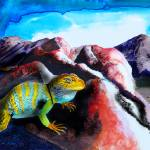 """Collared Lizard"" by ColoradoArt"