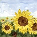 """""""Following the Sun Flowers"""" by arlene72"""