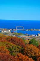 Aerial Lift Bridge in Autumn Glory