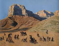 Horses at the Guadalupe Mountains National Park