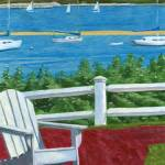 """Cape Cod Adirondack Chair"" by dominicwhite"