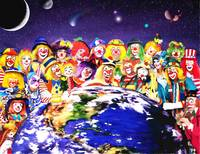 Planet of CLOWNS - 40x52 inches