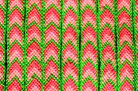Green and Pink Arrow Woven Bracelet