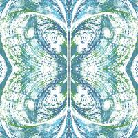 Stormy Abstract Blue Butterfly