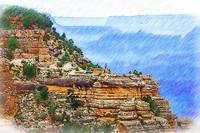 Grand Canyon Overlook Sketched